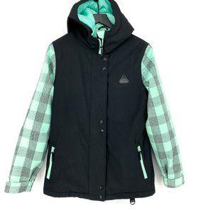 APERTURE Cannon Black & Mint 10K Snowboard Jacket